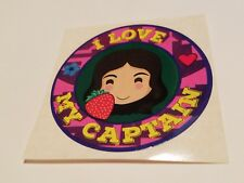 """Firefly Cargo Crate Exclusive Kaylee Frye I Love My Captain 2.5"""" Sticker Loot"""