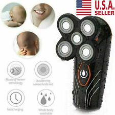 5 Head Floating Rechargeable Men Electric Shaver Beard Hair Trimmer Bald Razor