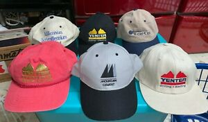 Nice Lot 6 Baseball Caps Hats Work Yenter Mountain Cement