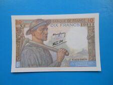 10 francs mineur 11-6-1942 F8/3 SPL