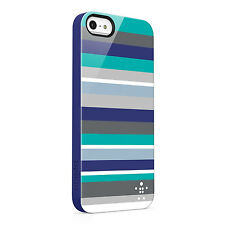 Belkin Bold Striped Shield Case for iPhone 5 and 5s Blue F8W124VFC01