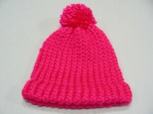 PINK WITH RED - TODDLER SIZE STOCKING CAP BEANIE HAT!