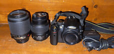 Nikon D5000 12.3MP Digital SLR Camera - Black with two lenses 55-200 and 18-55