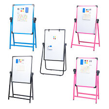 Kids Art Easel Magnetic Whiteboard Double Sided Dry Erase Drawing Planning Board