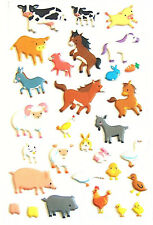 3D Decorative Farm Yard Animal Stickers for Children & Card Making - RCF7051