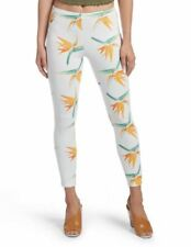 HUE U18750 Simply STRETCH Skimmer TROPICAL Floral White LEGGING Pant ( XS )