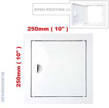 Access Panel Fit Hole 250 x 250 mm  White Inspection Hatch Door With Pull Handle