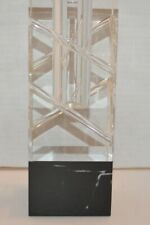 Swarovski Lulu Style Crystal Candle Holder with Black Marble Base