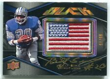 2009 UD Black Autographs 15 Billy Sims USA Flag Patch Auto 5/75