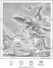 Turchia. VATHY, Schizzo Mappa c1885 VECCHIO ANTICO VINTAGE PIANO Grafico