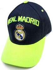 Real Madrid Spain Club Team Charcoal / Neon Green Hat Cap Soccer Futbol Logo