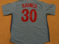 Tim Raines Montreal Expos autographed Jersey