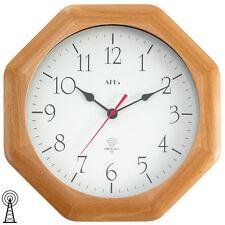 Ams 5998/18 Horloge Murale Radio-Pilotée Analogue Carré Octogonale Bois