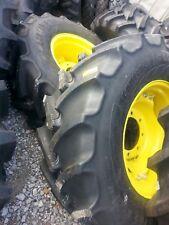 TWO New 440/65R24 Continental  John Deere Farm Tractor Tires w/Wheels