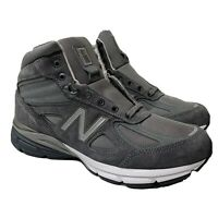New Balance 990 V4 Mid Sneaker Boot Grey MO990GR4 Made in The USA Men's Sz 8