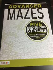 ADVANCED MAZES BOOK FIVE STYLES BRAND NEW ADULT EDUCATION FUN RELAX PLAY PUZZLES