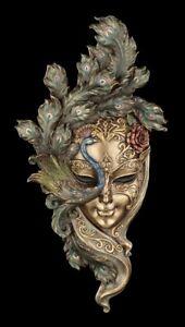 Venezianische Maske - Peacock Garden - Veronese Pfau Wand Deko Venedig Karneval