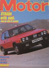 Motor magazine 9/6/1984 featuring Fiat Strada Abarth road test, BMW Alpina