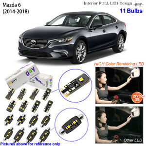 11 Bulbs Deluxe LED Interior Dome Light Kit Xenon White For 2014-2018 Mazda 6