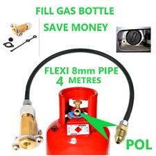 MINI M10 LPG Filling Point to Calor Gas Propane Bottle 4 Meters FLEXI pipe