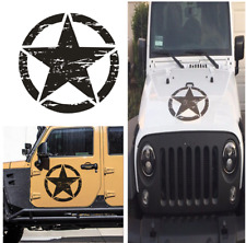 50cm x 50cm Stylish DIY Car Decal Sticker Army Military Star Hood Decal Sticker