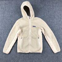 Patagonia Retro-X Hooded Oatmeal Deep Pile Sherpa Jacket Full Zip Womens Small