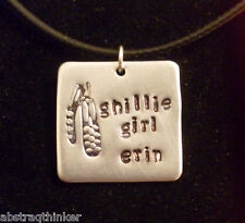 "Personalized Irish Dance Dancing Dancer Ghillies Custom 3/4"" Aluminum Necklace"