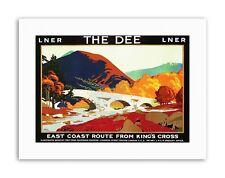 Riel de Tren Río Dee Aberdeen Escocia Highland puente Reino Unido Cartel De Lona de viaje