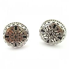 Rounded Gothic Cross Pattern CUFFLINKS Medieval Goth Formal BIRTHDAY PRESENT