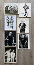 Vintage Wrestling Photo Lot of 7 B&W Pictures WWF WWE AEW AWA WCCW WCW