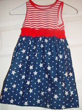 Red White & Blue Stars and Striped Dress Size 4