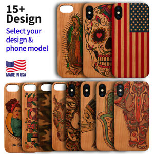 Wood Phone Case For iPhone 12/11/11 Pro/Max, X/XS/XR/XS Max, 8/7/6 Plus UV