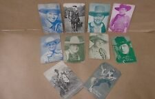 10 Different 1950's Arcade Cards Cowboys Keene Tyler Maynard