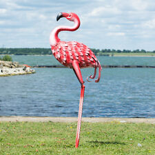 Large 88cm Pink Flamingo Metal Garden Ornament Decorative Bird Sculpture Statue