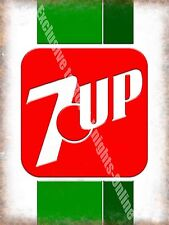 7up Lemonade Lime 60s 70s Retro Soft Drink Cafe Diner Shop Medium Metal/Tin Sign