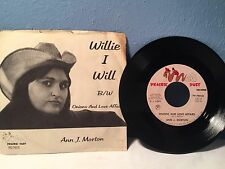 Ann Morton Onions And Love Affairs ~ Willie I Will 45 Pic Sleeve DJ Copy RARE EX