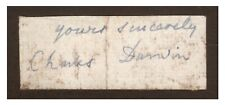 Charles Darwin - Ink Signature - Naturalist Who Conceived Theory of Evolution