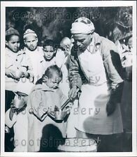 Food For Famine Stricken Mountain Tribes in French Morocco Press Photo