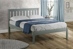 New Traditional Shaker Style Denver Bed Frame Available In White Grey Or Pine