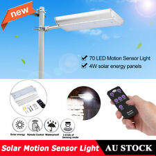 Solar Motion Sensor Light 70 LED Security Wall Outdoor Garden Street Lamp