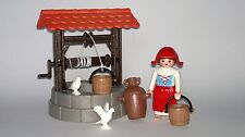 Playmobil Medieval Peasant Custom with Accessories, Well water, Shepherdess