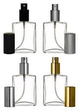 Set of 4 Perfume Cologne Atomizers Empty Glass Spray Bottles Sprayer 2 oz 60ml