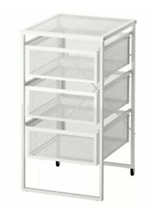 IKEA Lennart Drawer Unit, White with Wheels Storage Unit For Home AND Office