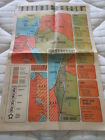 Vintage Map - MIDEAST Cradle of Civilization Crossroads of Crisis June 29, 1969