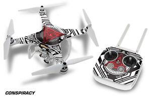 DJI Phantom 3 Drone Wrap RC Quadcopter Decal Sticker Custom Skin Accessory CONSP