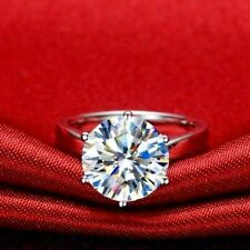 Engagement Ring in 14K White Gold 2.65Ct Round Cut Vvs1 White Solitaire Diamond