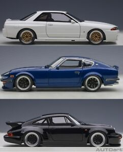 1:18  AutoArt 30th Anniversary NIssan R32, PORSCHE 911 & Fairlady Akuma Z , PRE