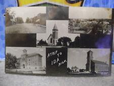 IDA MICHIGAN PRE 1920 MULTI VIEW REAL PHOTO STREET,CHURCH MORE