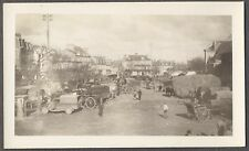 Vintage 1920s Photo Trucks Cars & Wagons in Market Place Street Scene 259631