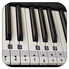 I principianti Pianoforte & Tastiera Musica Nota Adesivi + scaricabile gratuitamente guida posizionamento